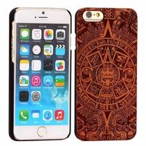 Maya stijl houten hoesje iPhone 6 / 6s