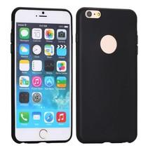 Logo zwart siliconen hoesje iPhone 6 / 6s