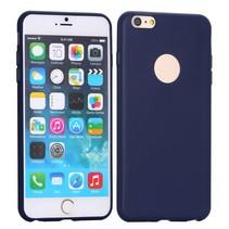 Logo blauw siliconen hoesje iPhone 6 / 6s