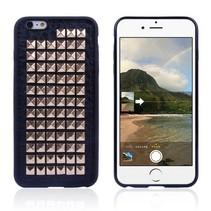 Gouden studs leren hoesje iPhone 6 / 6s