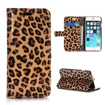 Luipaard print Bookcase hoes iPhone 6 / 6s