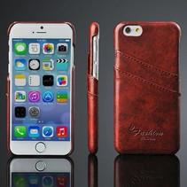 Bruin leren hoesje met pasjeshouder iPhone 6 / 6s