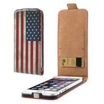 Amerikaanse vlag Flip Case hoes iPhone 6 / 6s