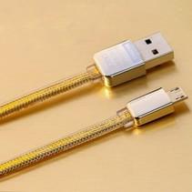 Micro USB Kabel 100 cm - Goud