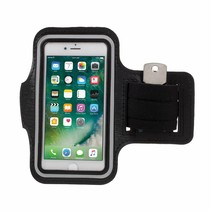 Zwart Sportarmband Hoesje iPhone 6 / 6S / 7