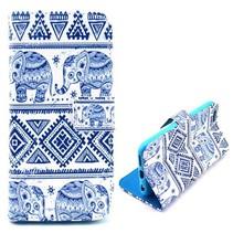 Blauwe olifantjes 3-in-1 hoesje iPhone 6(s) Plus