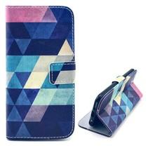 Kleurrijke driehoeken Booktype  hoes iPhone 6(s) Plus