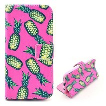Ananas roze Bookcase hoesje iPhone 6(s) Plus