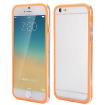 Oranje / transparante bumper iPhone 6(s) Plus