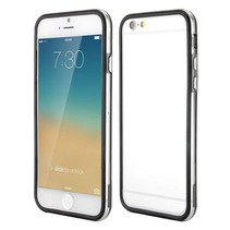 Zwart / transparante bumper iPhone 6(s) Plus