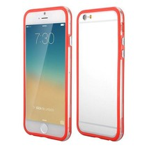 Rood / transparante bumper iPhone 6(s) Plus