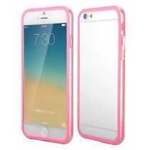 Roze / transparante bumper iPhone 6(s) Plus