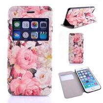 Roosjes print Bookcase hoes iPhone 6(s) Plus