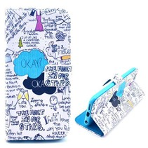 Graffiti Bookcase hoes iPhone 6(s) Plus