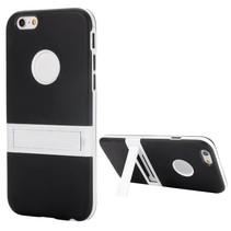 Zwart hybrid hoesje met stand iPhone 6(s) Plus