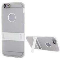 Transparant hybrid hoesje met stand iPhone 6(s) Plus