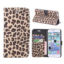 Luipaard print Bookcase hoes iPhone 6(s) Plus