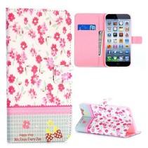 Bloemen & diamantjes Bookcase hoes iPhone 6(s) Plus