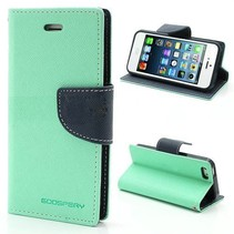 Diary mintgroen Bookcase hoes iPhone 6(s) Plus