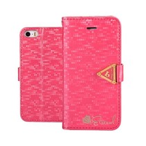 Eternal donkerroze Bookcase hoes iPhone 6(s) Plus