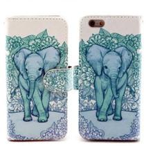 Elegante olifant Bookcase hoes iPhone 6(s) Plus