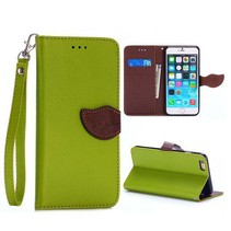 Groen leaf Bookcase hoes iPhone 6(s) Plus