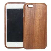 Donkerbruin houten hoesje iPhone 6(s) Plus