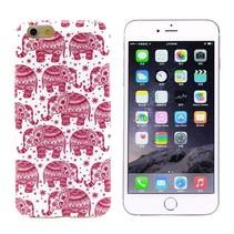 Roze olifantjes TPU hoesje iPhone 6(s) Plus
