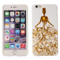 Golden lady TPU hoesje iPhone 6(s) Plus