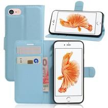 Lichtblauw Litchi Bookcase Hoesje iPhone 7