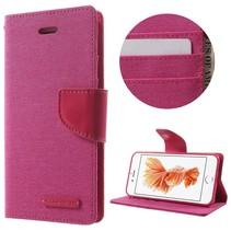 Goospery Roze Bookcase Hoesje iPhone 7