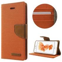 Goospery Oranje Bookcase Hoesje iPhone 7