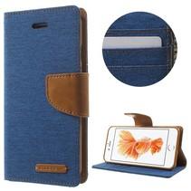 Goospery Blauw Bookcase Hoesje iPhone 7