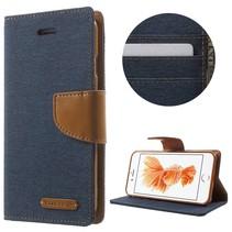 Goospery Donkerblauw Bookcase Hoesje iPhone 7