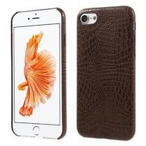 Bruin Krokodillen Hardcase Hoesje iPhone 7