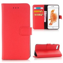 Rood Litchi Bookcase Hoesje iPhone 7
