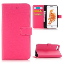 Roze Litchi Bookcase Hoesje iPhone 7