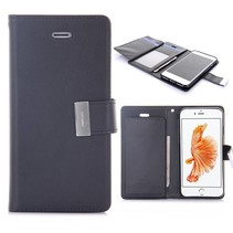 Goospery Zwart Bookcase Hoesje iPhone 7