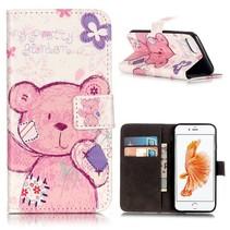 Knuffelbeer Bookcase Hoesje iPhone 7