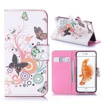 Vlinders Bookcase Hoesje iPhone 7