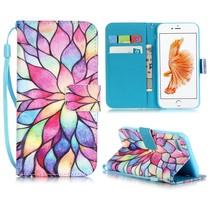 Bloemdesign Bookcase Hoesje iPhone 7