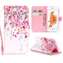 Kleurrijke Bloesem Bookcase Hoesje iPhone 7
