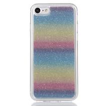 Regenboog Glitter TPU Hoesje iPhone 7