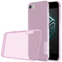 Roze / Transparant TPU Hoesje iPhone 7