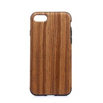 Hout Textuur TPU Hoesje iPhone 7