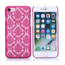 Roze Bloemen Structuur Hardcase Hoesje iPhone 7