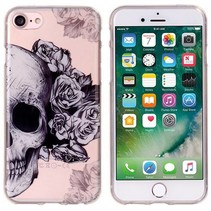 Skull & Flowers TPU Hoesje iPhone 7