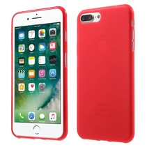 Rood Mat TPU Hoesje iPhone 7 Plus