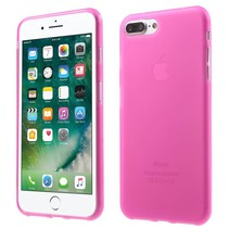 Roze Mat TPU Hoesje iPhone 7 Plus
