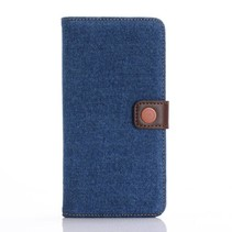 Blauw Jeans Bookcase Hoesje iPhone 7 Plus